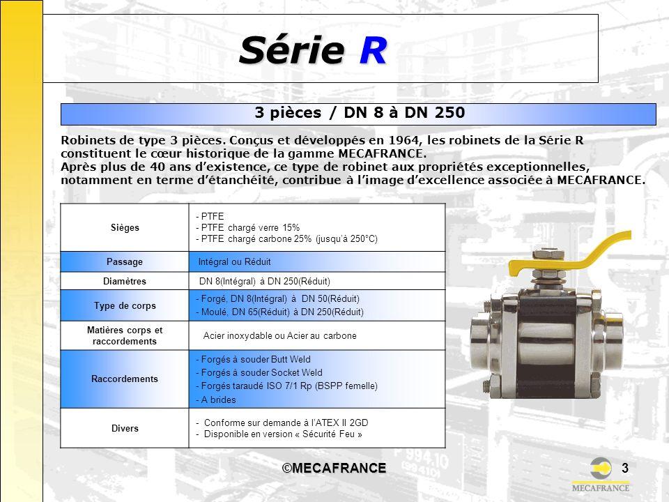 Série R 3 pièces / DN 8 à DN 250 ©MECAFRANCE