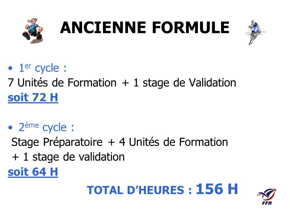 ANCIENNE FORMULE 1er cycle :