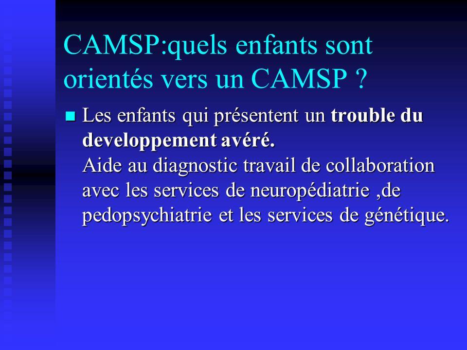 CAMSP:quels enfants sont orientés vers un CAMSP