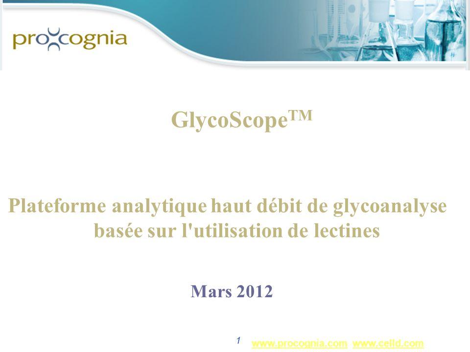 GlycoScopeTM Plateforme analytique haut débit de glycoanalyse basée sur l utilisation de lectines. Mars 2012.