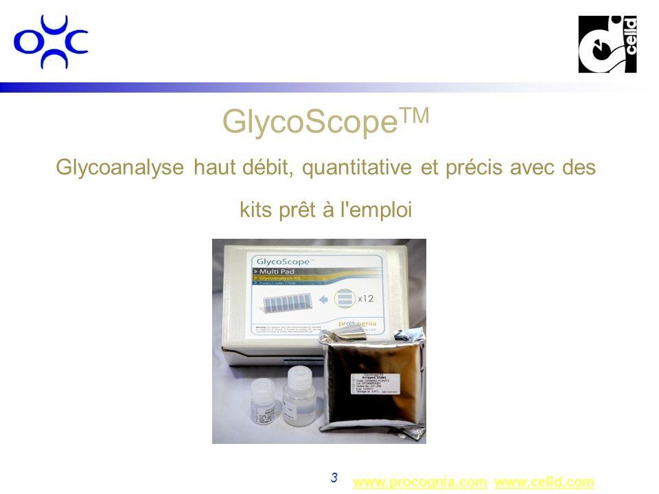 GlycoScopeTM Glycoanalyse haut débit, quantitative et précis avec des kits prêt à l emploi
