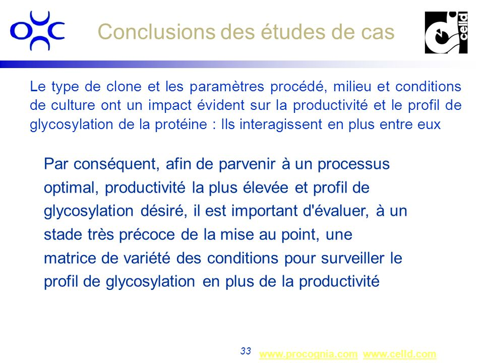 Conclusions des études de cas