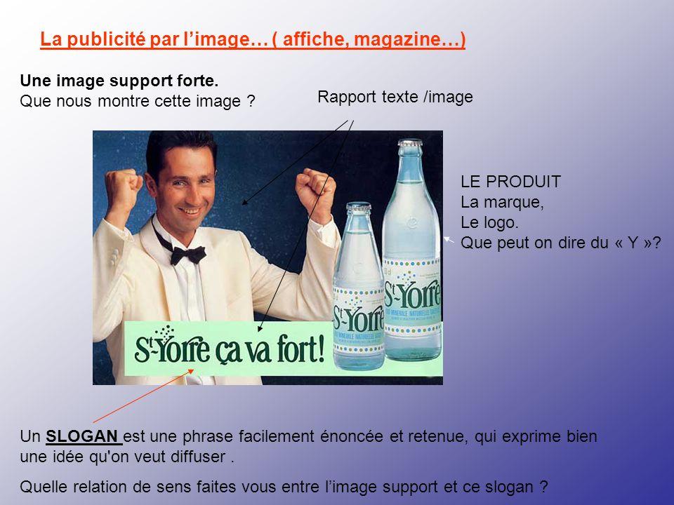 La publicité par l'image… ( affiche, magazine…)
