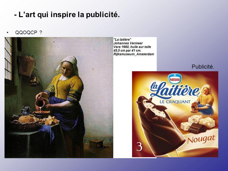 - L'art qui inspire la publicité.