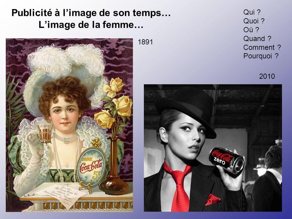 Publicité à l'image de son temps… L'image de la femme…