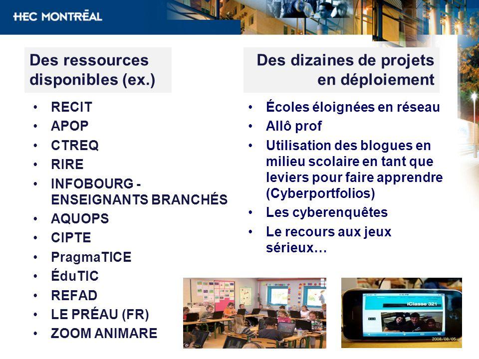 Des ressources disponibles (ex.)