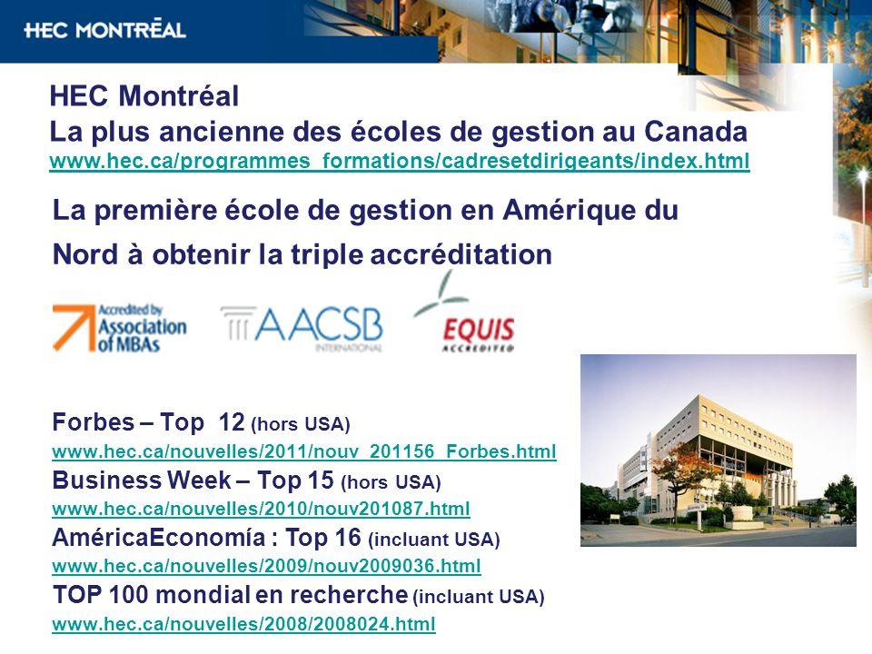 La plus ancienne des écoles de gestion au Canada