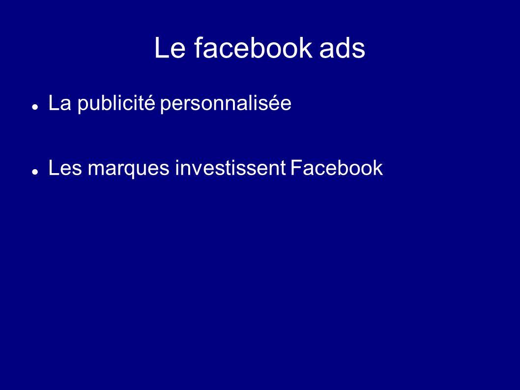 Le facebook ads La publicité personnalisée