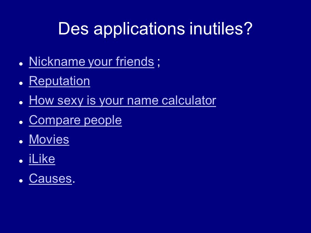 Des applications inutiles