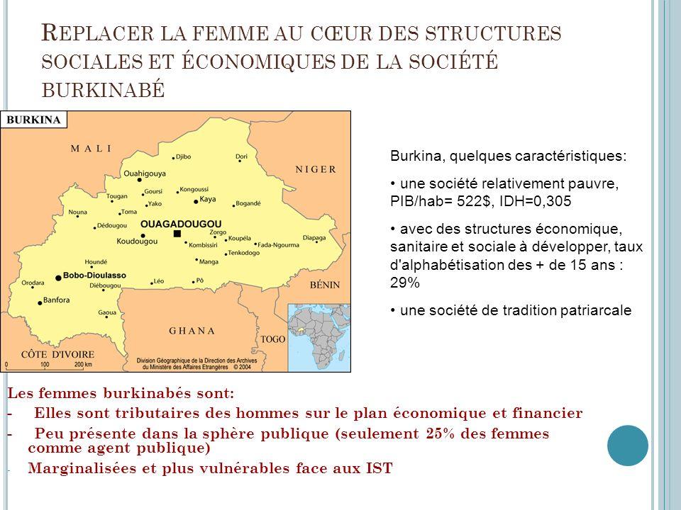 Replacer la femme au cœur des structures sociales et économiques de la société burkinabé