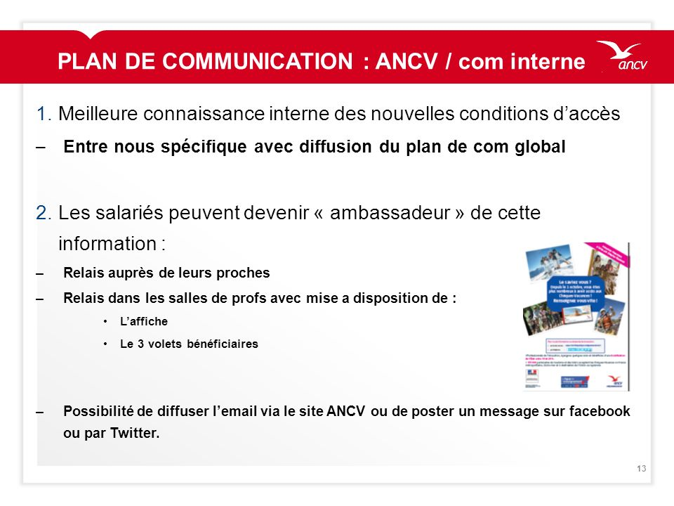 PLAN DE COMMUNICATION : ANCV / com interne