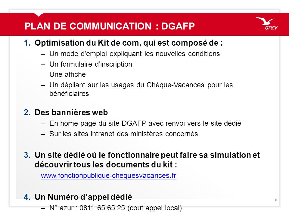 PLAN DE COMMUNICATION : DGAFP