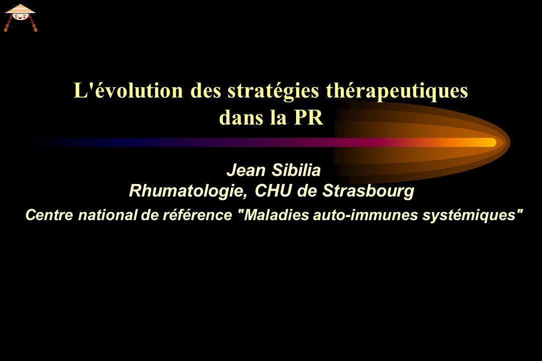 L évolution des stratégies thérapeutiques dans la PR