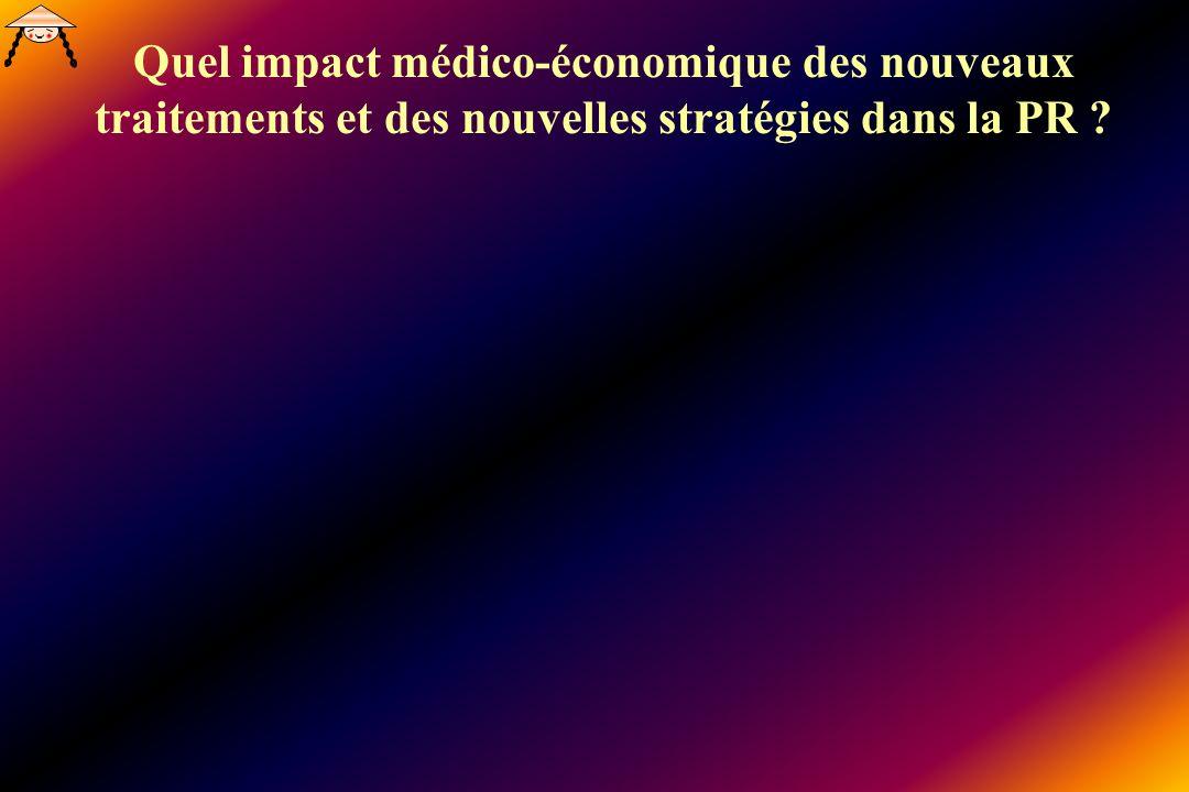 Quel impact médico-économique des nouveaux traitements et des nouvelles stratégies dans la PR