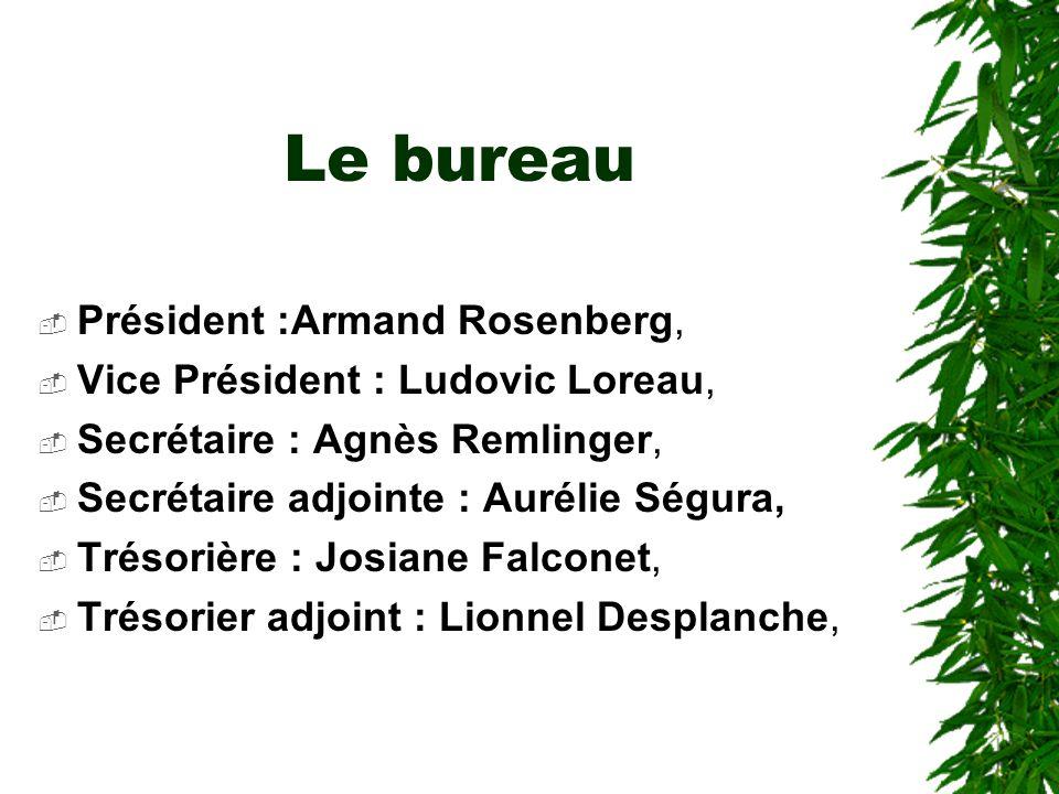 Le bureau Président :Armand Rosenberg,