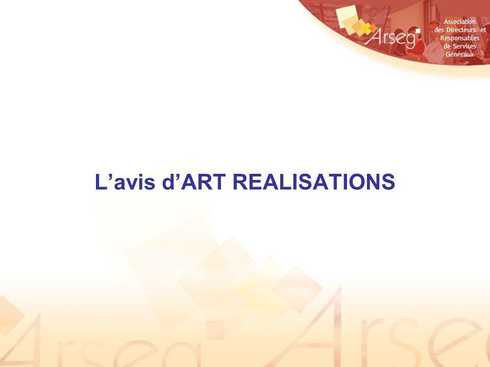 L'avis d'ART REALISATIONS