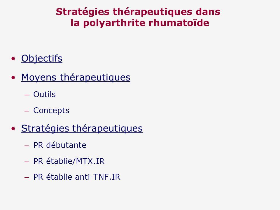 Stratégies thérapeutiques dans la polyarthrite rhumatoïde