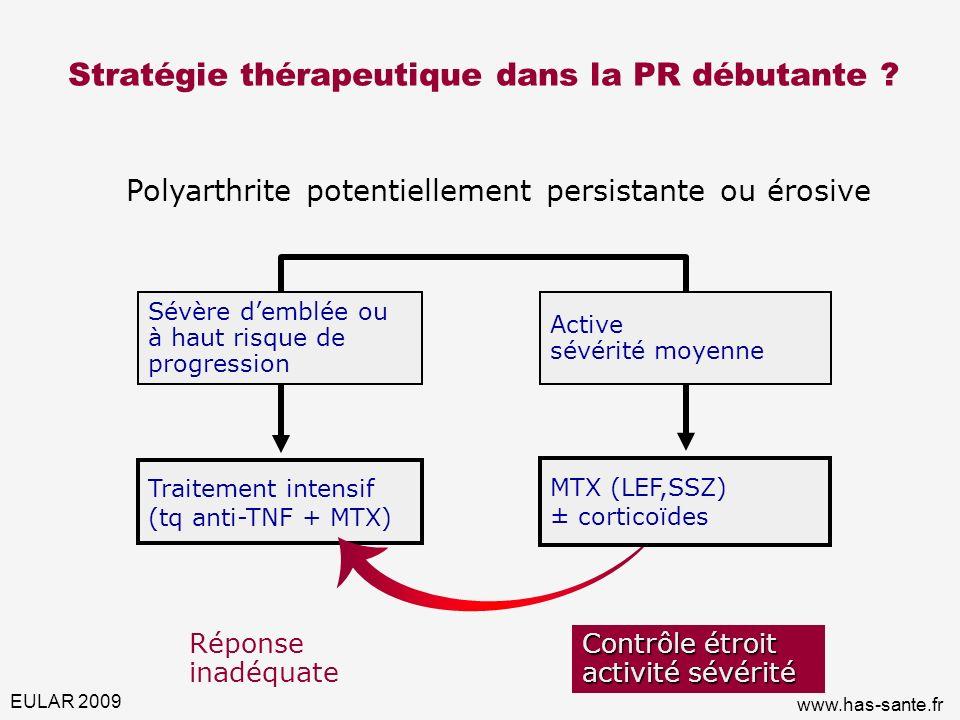 Stratégie thérapeutique dans la PR débutante