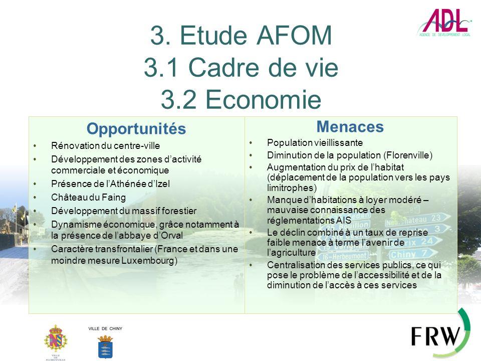 3. Etude AFOM 3.1 Cadre de vie 3.2 Economie
