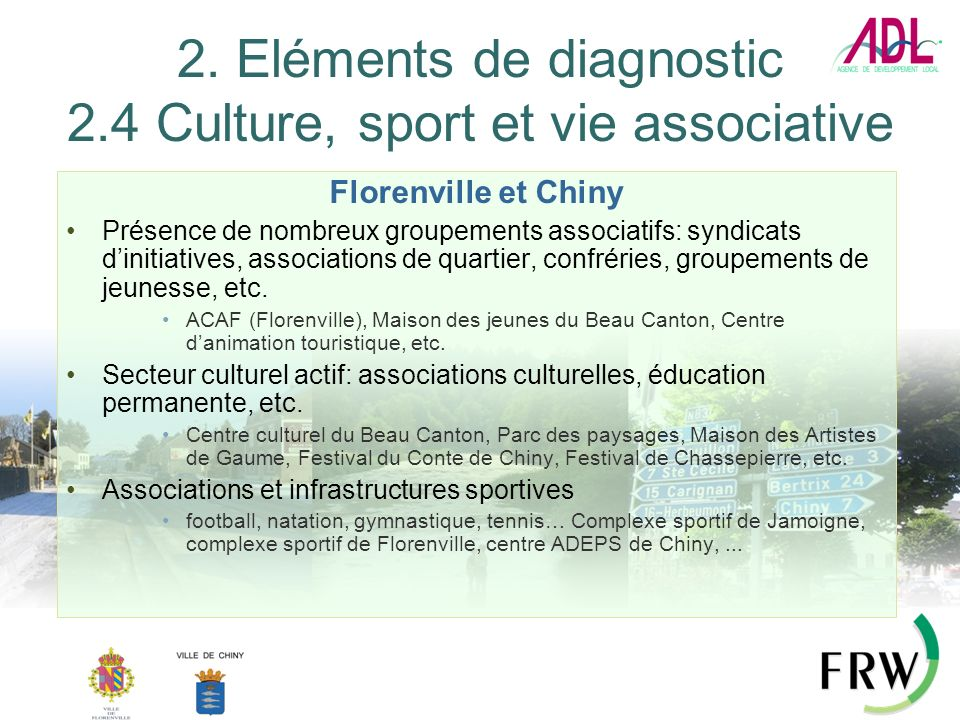 2. Eléments de diagnostic 2.4 Culture, sport et vie associative