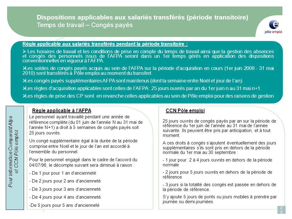 Pour information Comparatif Afpa et CCN Pôle emploi