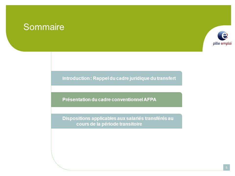 Sommaire Introduction : Rappel du cadre juridique du transfert