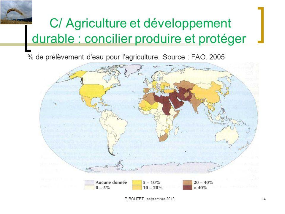 C/ Agriculture et développement durable : concilier produire et protéger