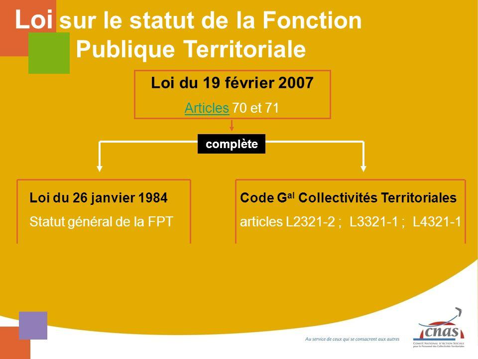 Loi sur le statut de la Fonction