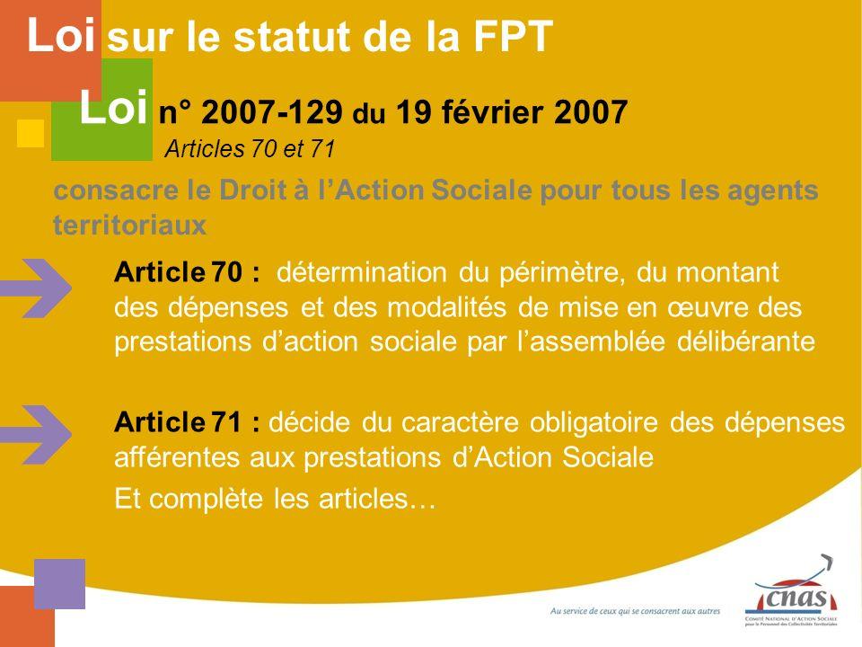 Loi sur le statut de la FPT