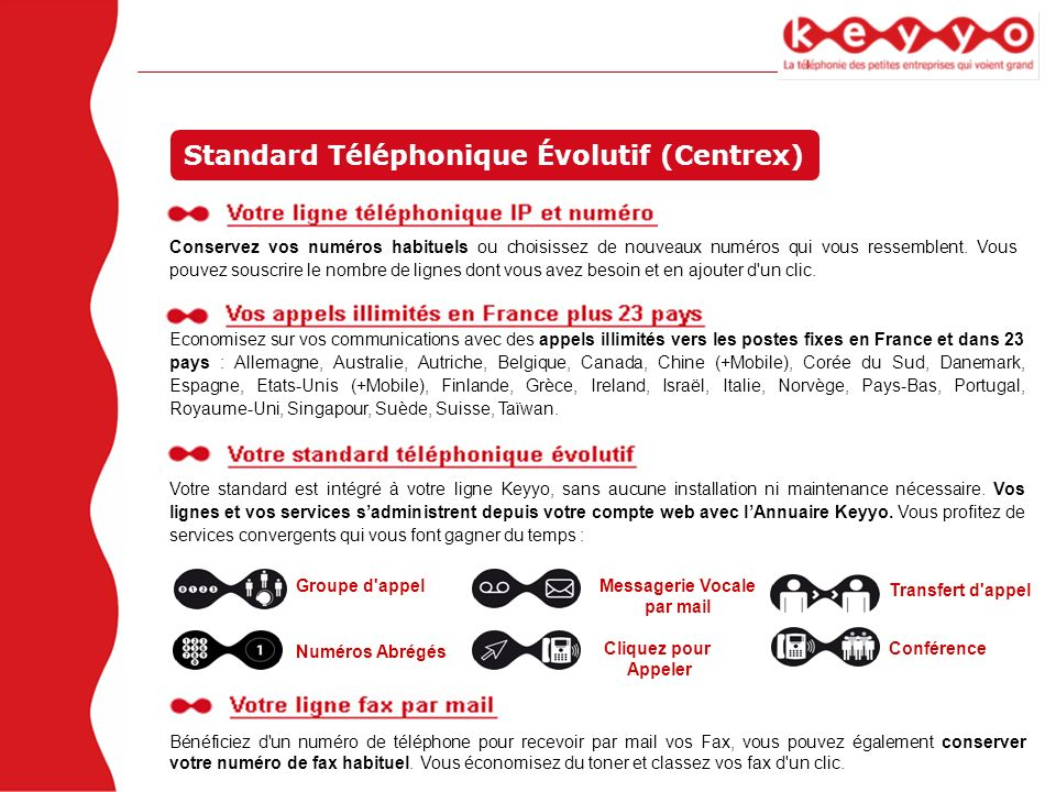 Standard Téléphonique Évolutif (Centrex)