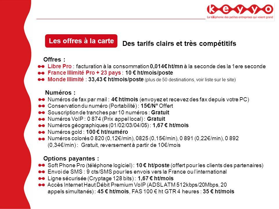 Des tarifs clairs et très compétitifs