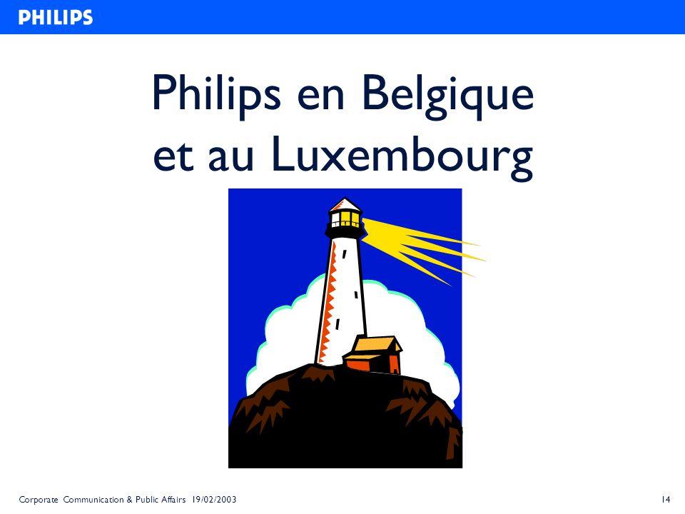 Philips en Belgique et au Luxembourg