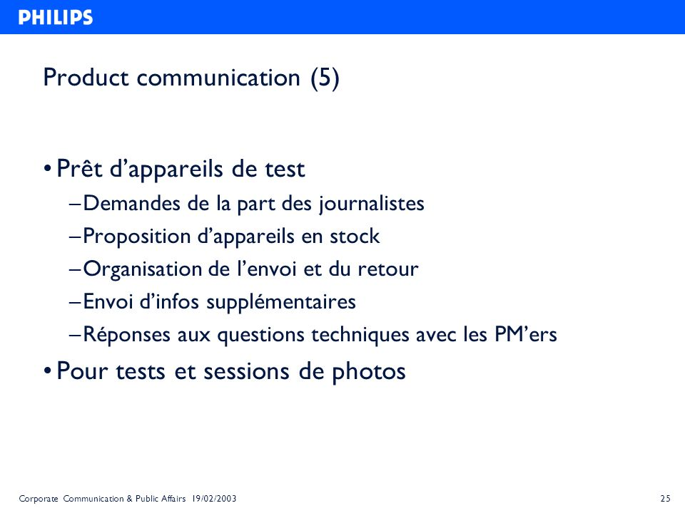 Product communication (5)