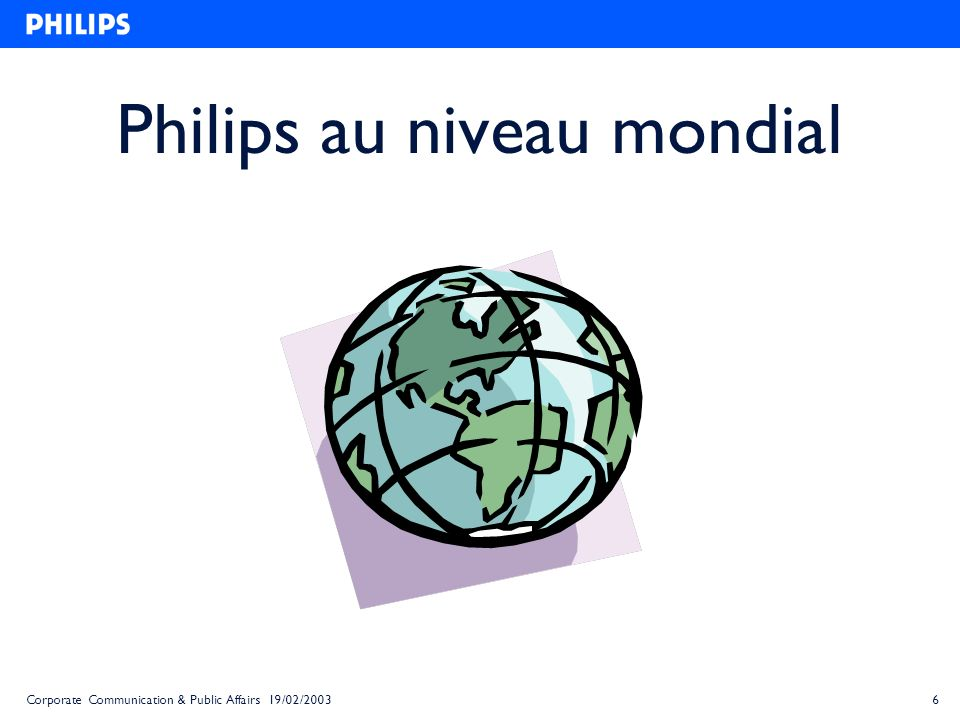 Philips au niveau mondial