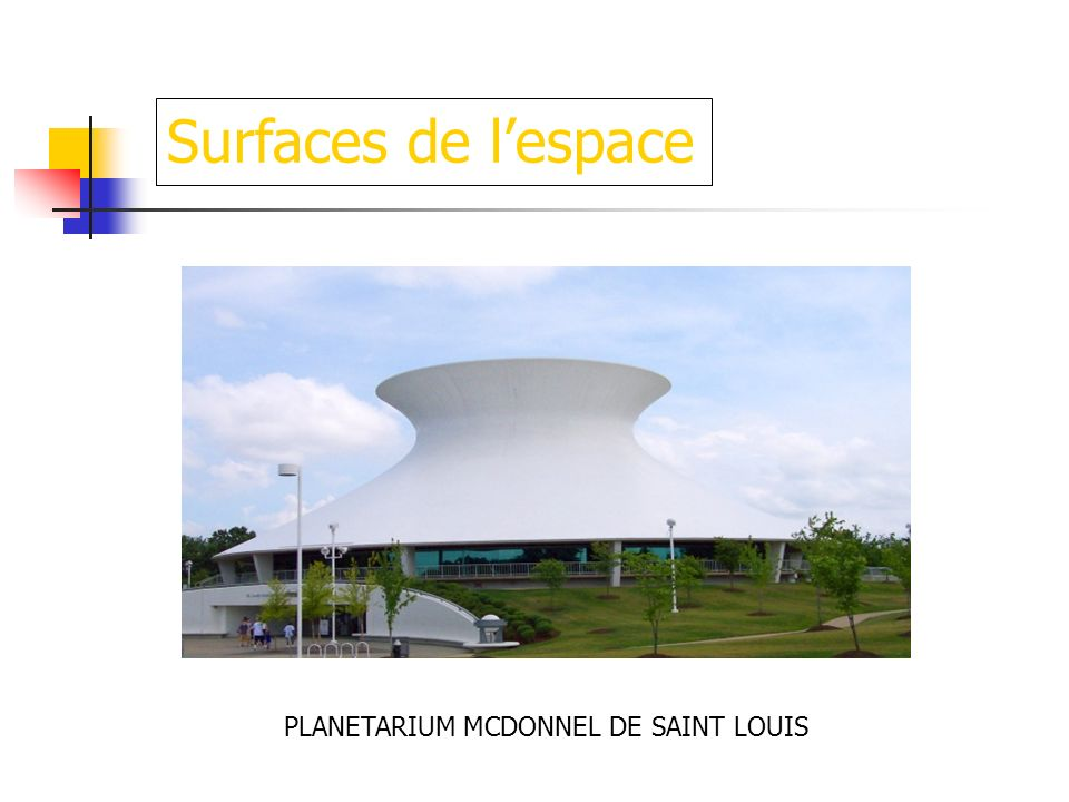 Surfaces de l'espace PLANETARIUM MCDONNEL DE SAINT LOUIS