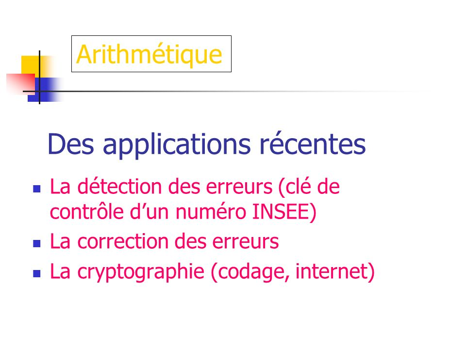 Des applications récentes