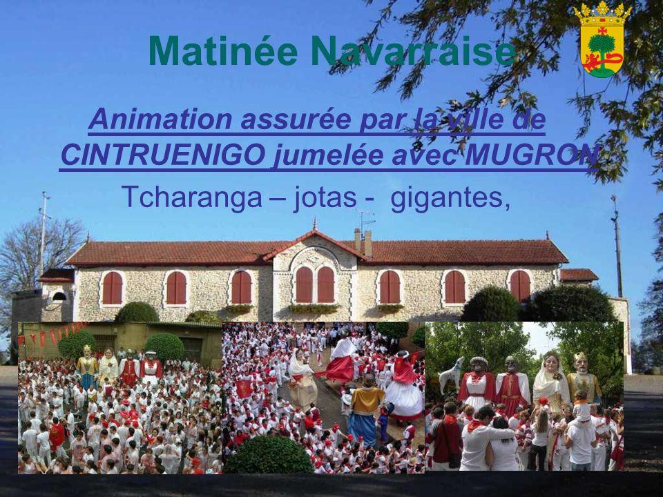 Animation assurée par la ville de CINTRUENIGO jumelée avec MUGRON