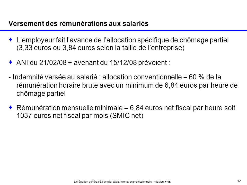 Versement des rémunérations aux salariés