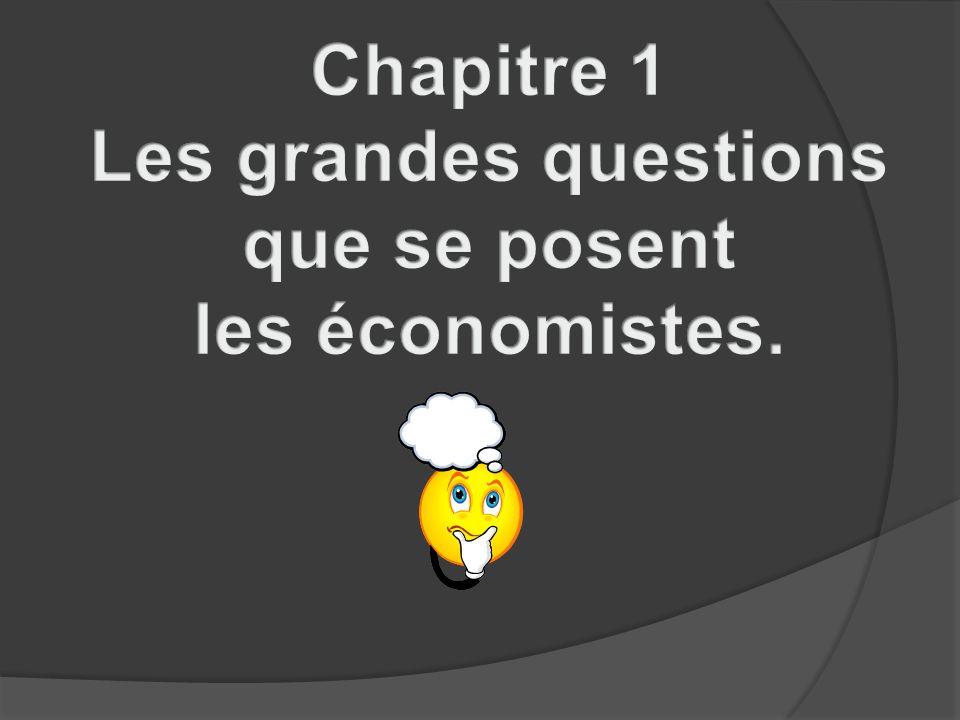 Chapitre 1 Les grandes questions que se posent les économistes.