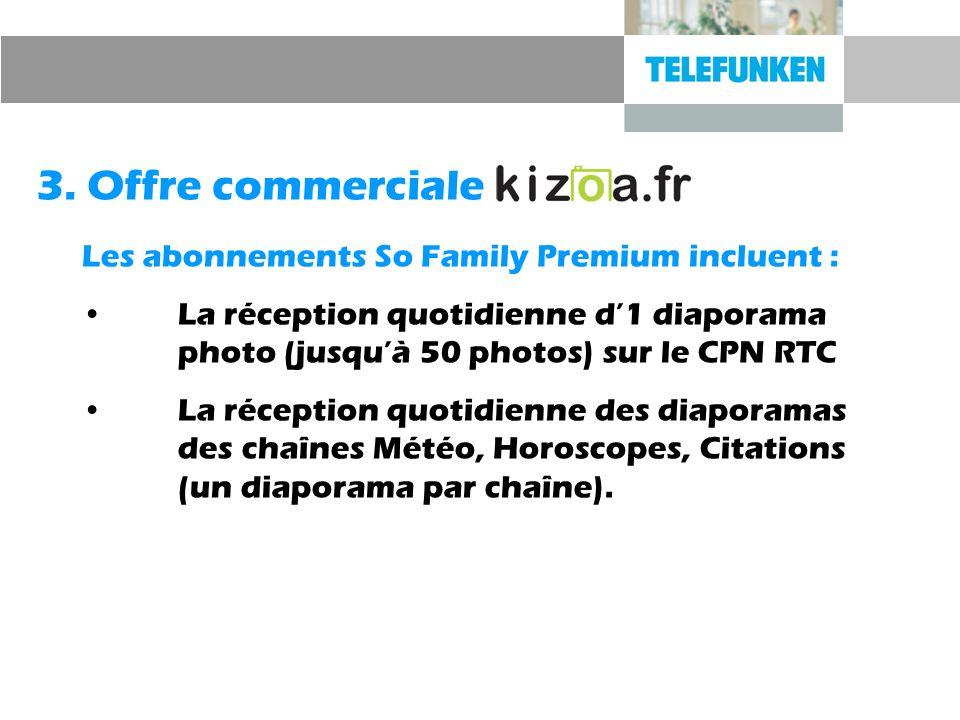 3. Offre commerciale Les abonnements So Family Premium incluent :