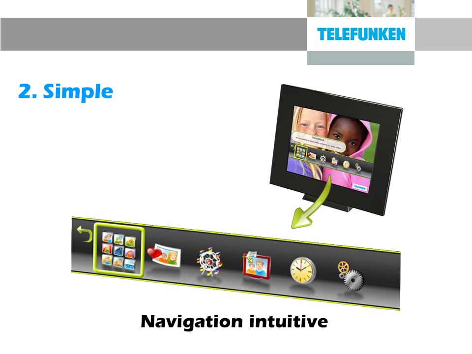 2. Simple Navigation intuitive