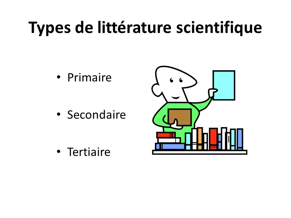 Types de littérature scientifique