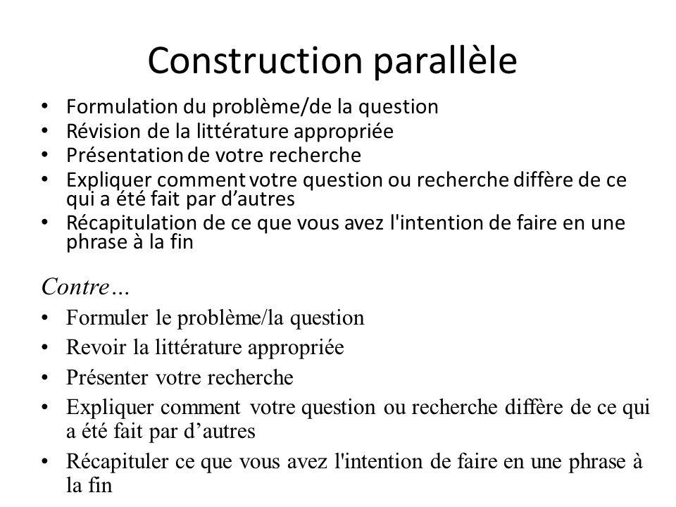 Construction parallèle