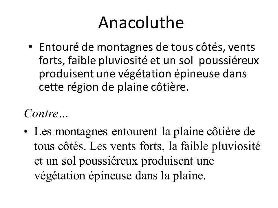 Anacoluthe