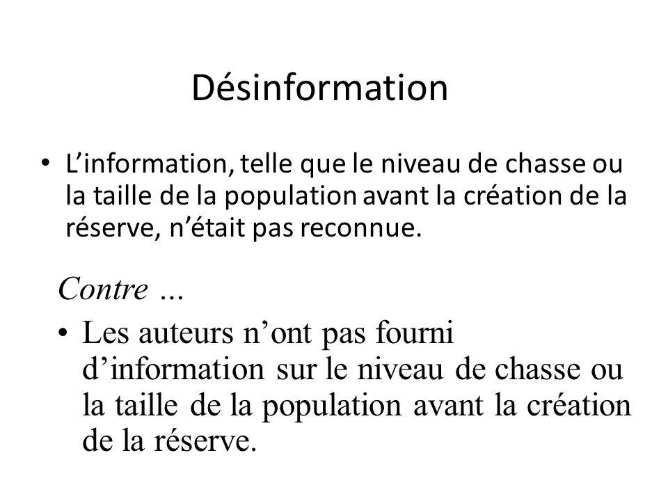 Désinformation Contre …