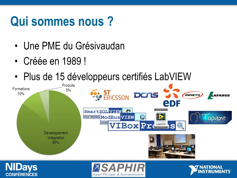 Qui sommes nous Une PME du Grésivaudan Créée en 1989 !
