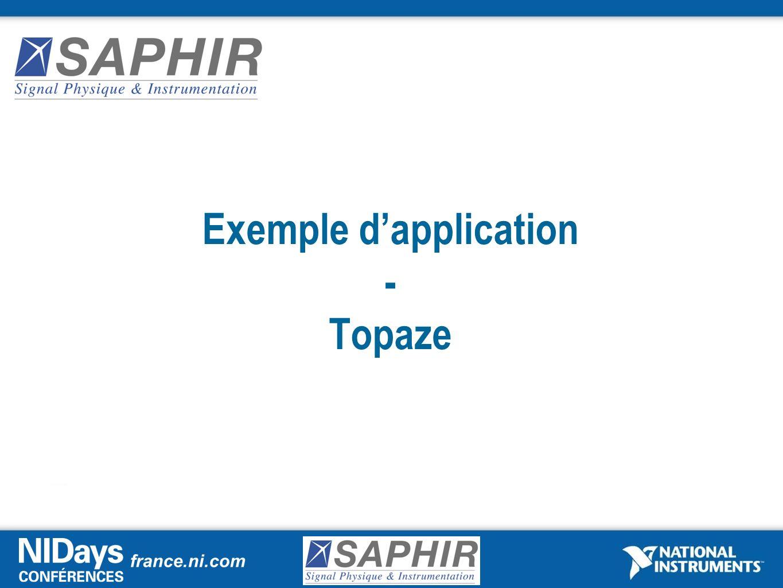 Exemple d'application - Topaze