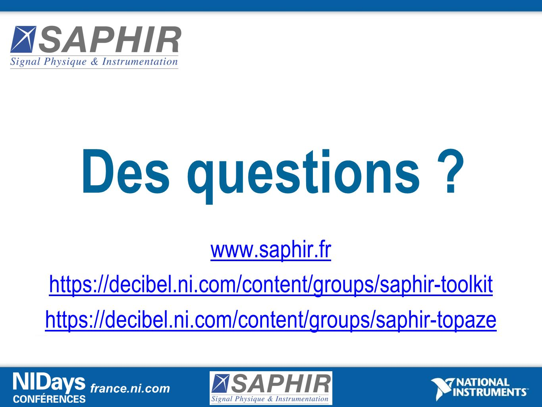 Des questions www.saphir.fr
