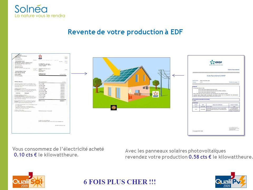 Revente de votre production à EDF