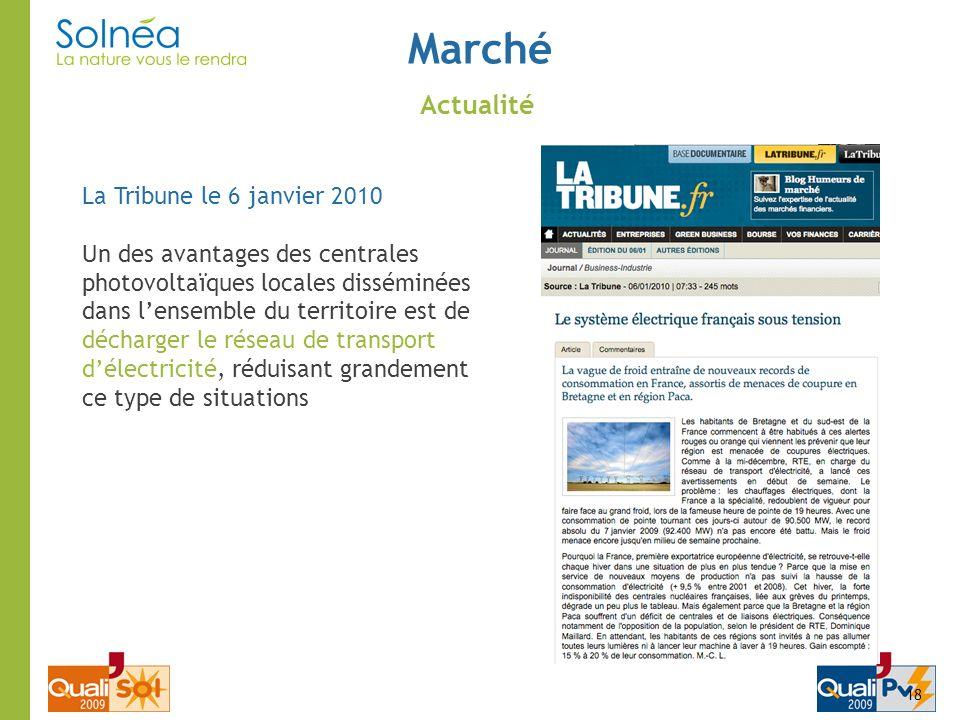 Marché Actualité La Tribune le 6 janvier 2010